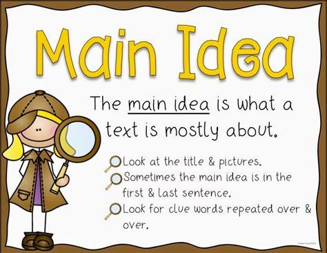 printable main idea poster main idea thinglink
