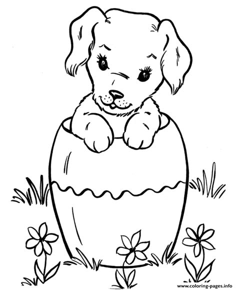 easter coloring pages with puppies easter dog s8818 coloring pages printable