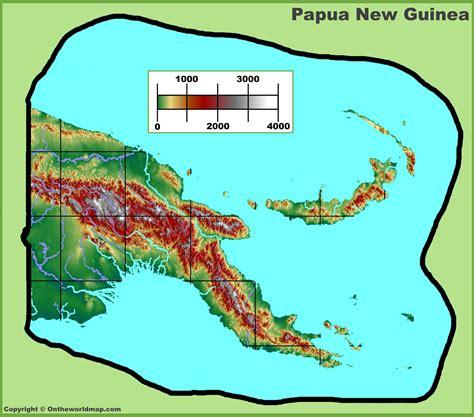 world map papua new guinea papua new guinea physical map