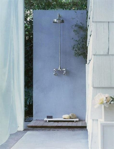 Simple Outdoor Shower by Outdoor Shower Ideas