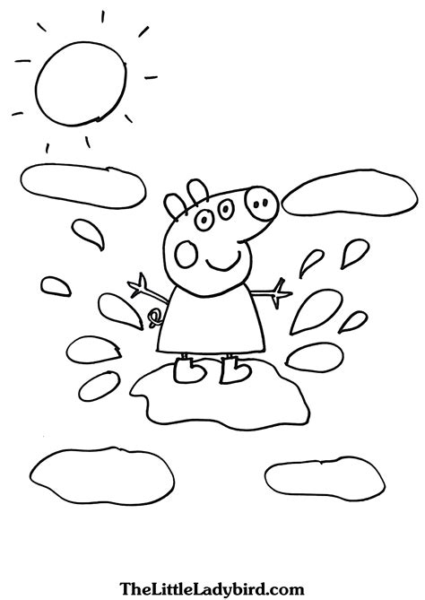 peppa pig muddy puddles coloring pages free peppa pig coloring pages thelittleladybird com