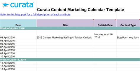 10 Free Content Strategy Editorial Calendar Templates Builtvisible Marketing Calendar Template 2016