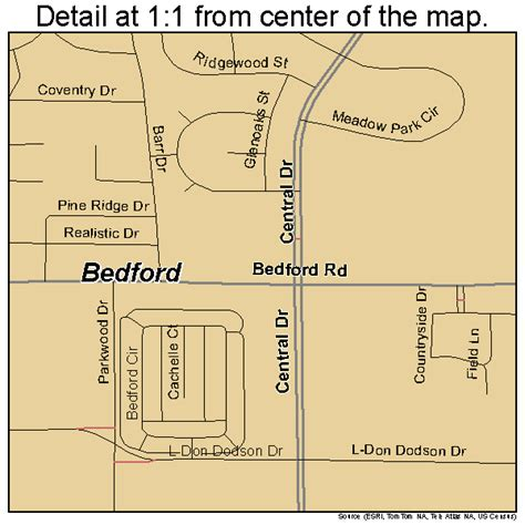 bedford texas map bedford texas map 4807132