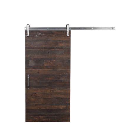 Rustica Hardware 42 In X 84 In Rustica Reclaimed Wood Reclaimed Barn Door Hardware
