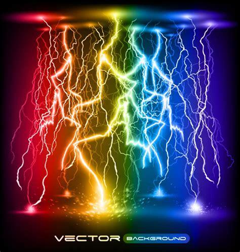 elements lighting set of lightning flash elements background vector 05