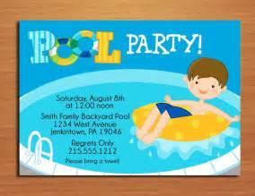 boy pool invitation cards printable diy