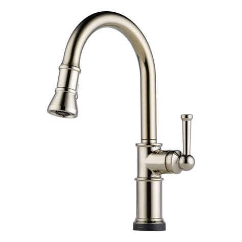 brizo kitchen faucets reviews brizo 64025lf pn brilliance polished nickel artesso pull