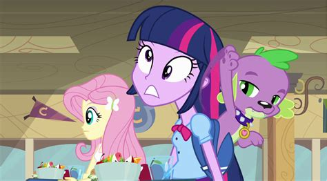 equestria girls twilight and spike image spike hits twilight s head png my little pony