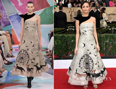 Catwalk To Carpet Thandie Newton Carpet Style Awards by Thandie Newton In Schiaparelli Couture 2017 Sag Awards