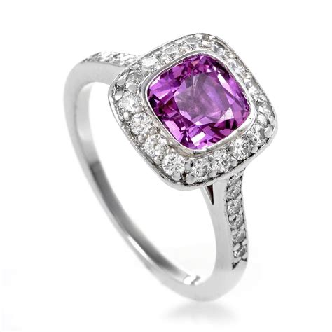 and co legacy pink sapphire platinum ring