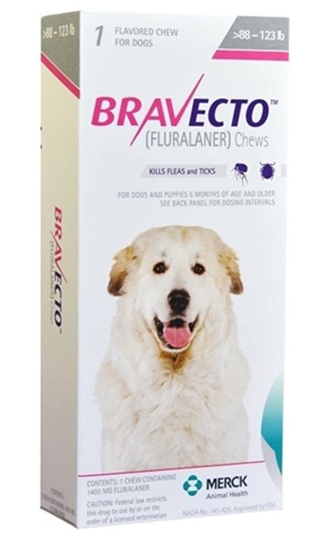 bravecto for dogs reviews bravecto 1400 mg for dogs 88 123 lbs 1 chewable tablet pink vetdepot