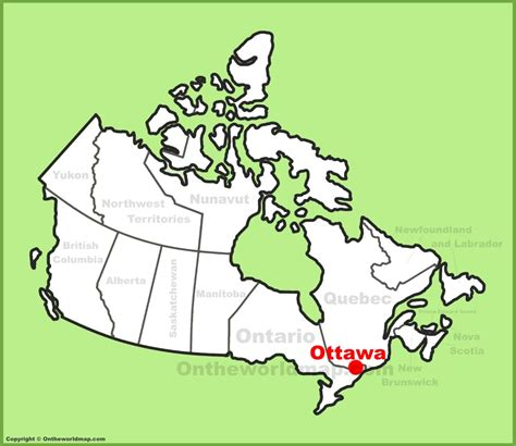 map of canada ottawa ottawa location on the canada map
