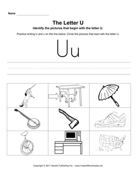 Letter U Worksheets For Pre K by Common Worksheets 187 Letter U Worksheets For Pre K