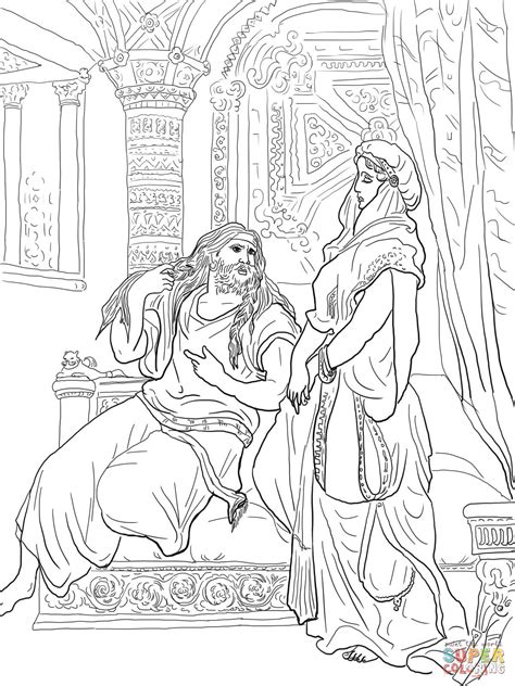 samson and delilah coloring page free printable coloring
