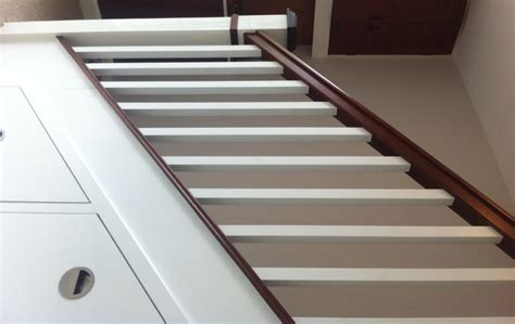 Square Stair Spindles Square Painted Spindle Mahogony Stairs With Storage