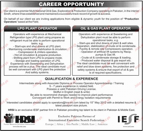 Example Of A Summary For A Resume by Lpg Plant Operators And Oil Amp Gas Plant Operators Wanted