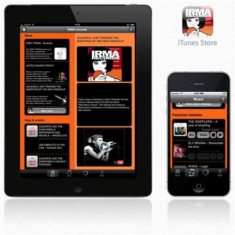 layout app ipad musica gli indipendenti sbarcano su iphone e su ipad