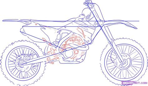 how to draw a motocross step 4 how to draw a dirt bike