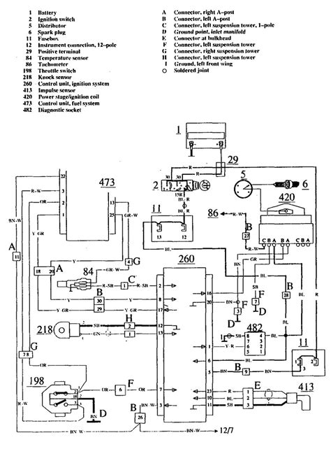 volvo 740 1990 1991 wiring diagrams ignition