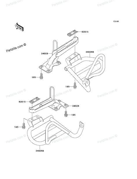 Kawasaki Bayou 300 Parts by Kawasaki Klf 300 C Parts Car Interior Design