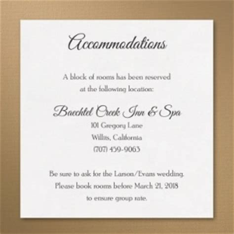 wedding hotel accommodation card template wedding accommodation card printed creations wedding