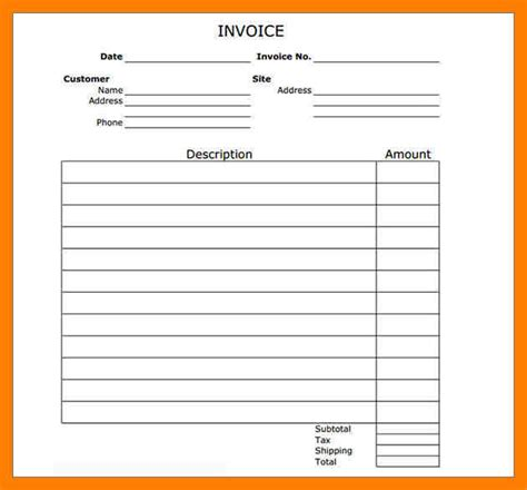 bill template pdf 8 blank invoice template pdf cfo resumed