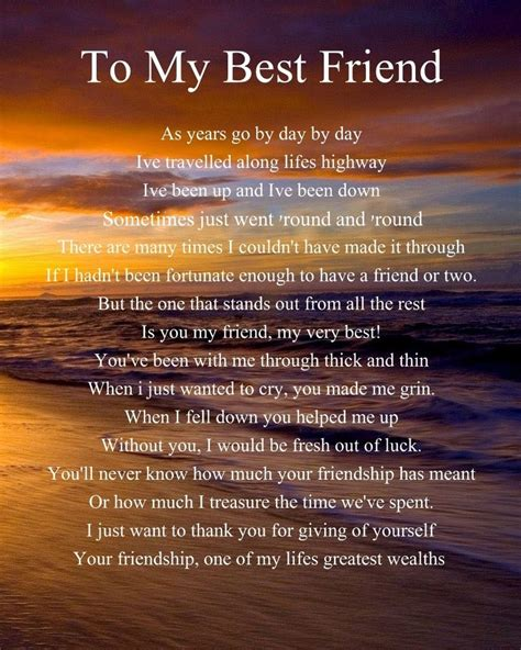 to my poem personalised to my best friend poem birthday