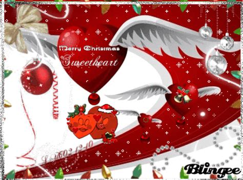 merry christmas sweetheart picture  blingeecom