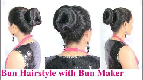how to use bun maker how to make bun hairstyle using bun maker medium long