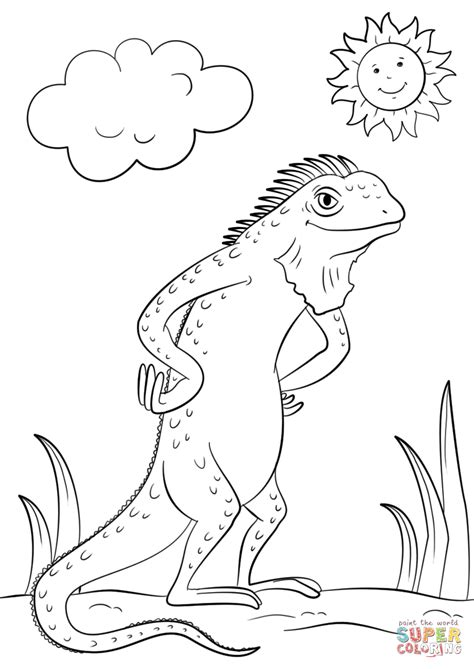 iguana coloring page iguana coloring page free printable coloring pages