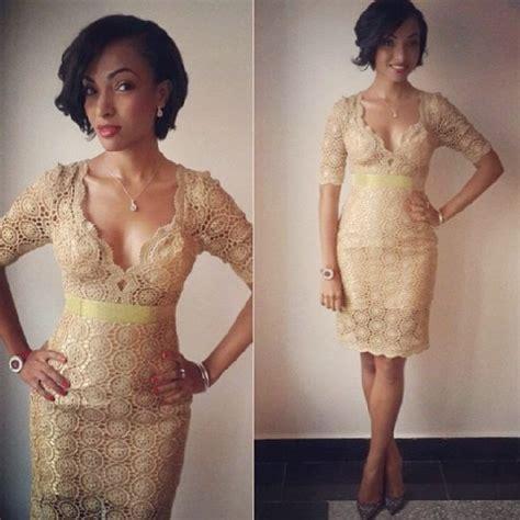 lace styles on bella naija lace short gown design dezango fashion zone