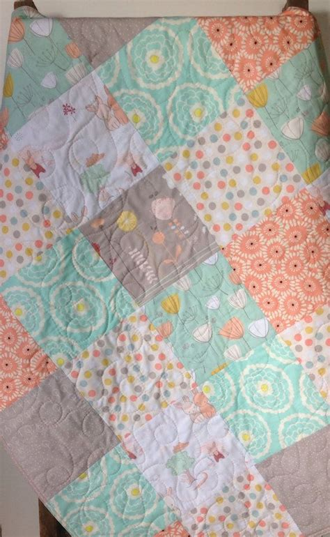 Baby Quilt Blankets by Baby Quilt The Littlest About Town Bunnies