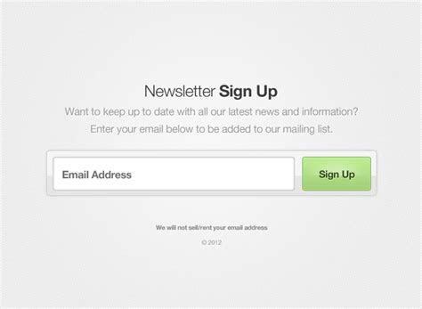 newsletter signup form template newsletter sign up form vector 365psd