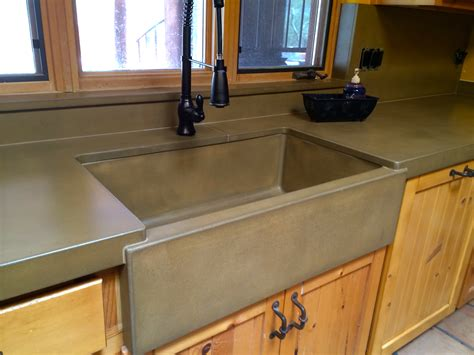 concrete countertops with farmhouse sink concrete kitchen countertops and sinks az