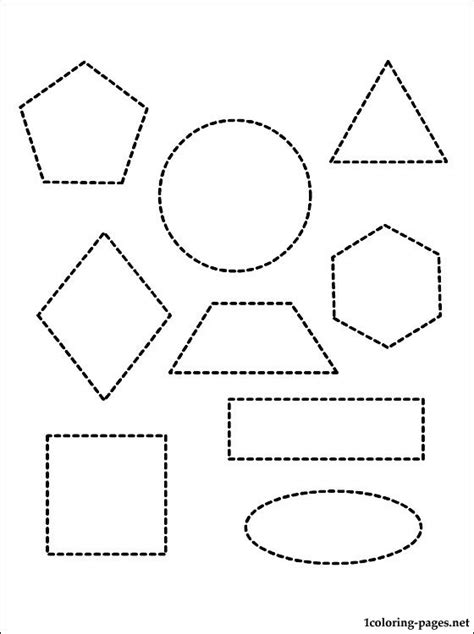 geometric shapes coloring page coloring pages