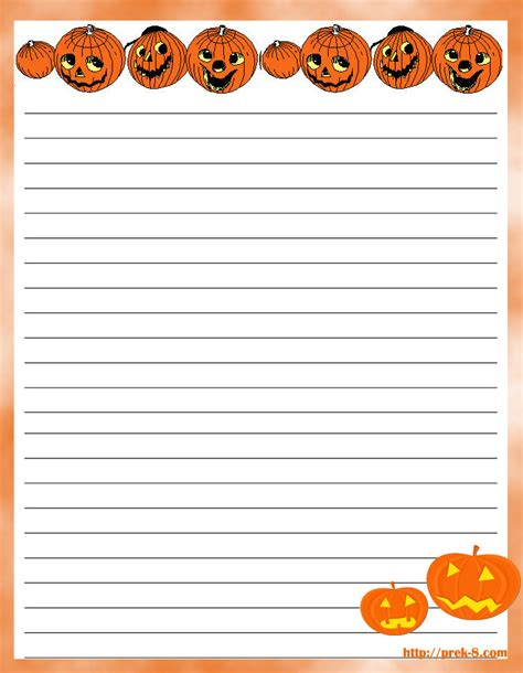 printable pumpkin stationery 8 best images of free printable stationery paper pumpkin