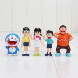 Doraemon Nobita 5pcs 5pcs lot doraemon figures 5 7cm nobita nobi figure pvc