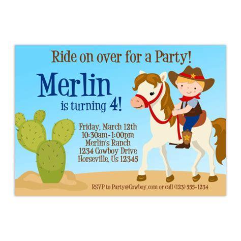 imagenes de tarjetas vaqueras invitaci 243 n del cumplea 241 os del vaquero lindo ni 241 o vaquero