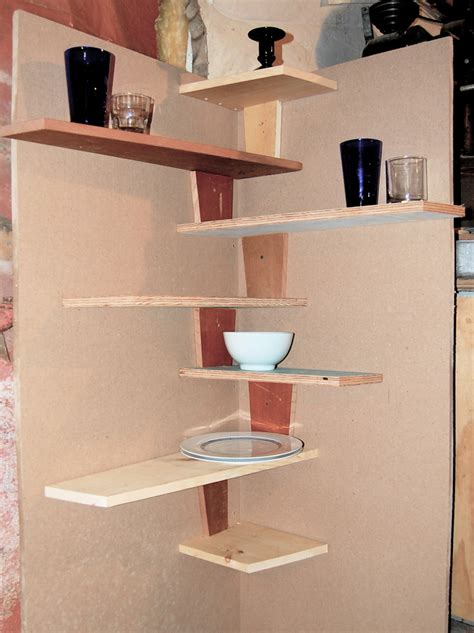 Kitchen Corner Shelves Ideas | spacesaver small kitchen spaces using diy wood floating