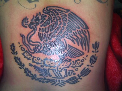 mexican eagle tattoo tribal mexican flag tattoos