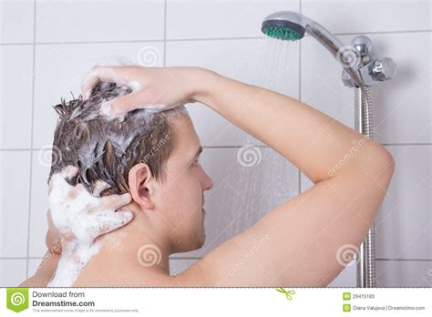 Washing Your In The Shower by Washing His Hair In Shower Stock Photos Image 29415183