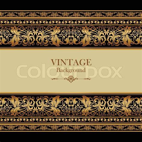 design bunga vintage vintage background elegance antique victorian gold