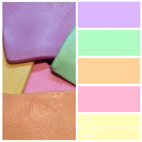 spring color schemes spring color palette metallic pastels for polymer clay