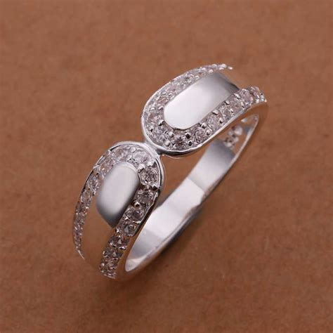wholesale free shipping 925 silver ring fashion sterling