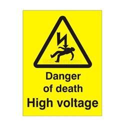 danger of high voltage safety sign electrical