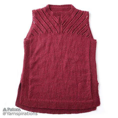 sleeveless knitted jersey pattern sleeveless knit shell top free pattern knitting bee