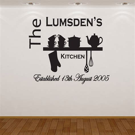 kitchen wall decor stickers original personalised kitchen wall sticker decobizz