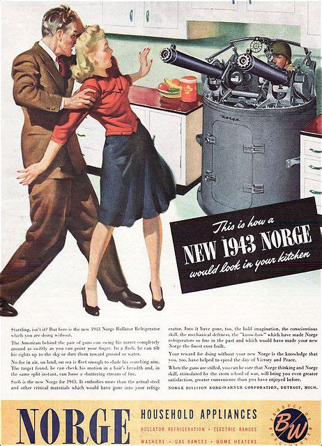 1943 Norge Ad   American Home fear mongering war ads in