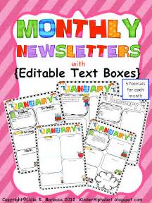 editable newsletter templates free newsletter templates with monthly themes for