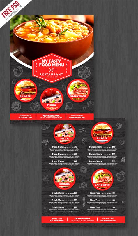 House Design Free Download by Restaurant Food Menu Flyer Free Psd Psdfreebies Com